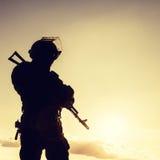 Funkcjonariusz policji z broniami Obraz Royalty Free