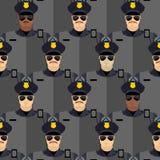 Funkcjonariusza policji bezszwowy wzór milicyjny stojaka strażnik royalty ilustracja