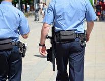 Funkcjonariuszi policji na Swanston ulicie Melbourne Obraz Royalty Free