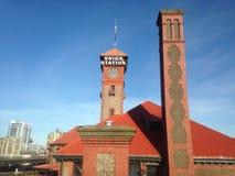 funkcjonować historyczny Oregon Portland staci pociągu zjednoczenie Zdjęcia Royalty Free