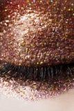 Funkeln-Augenschminke-geschlossenes Auge Lizenzfreie Stockfotografie