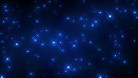 Funkeln-blaue grelle Hintergrund-Schleife stock abbildung