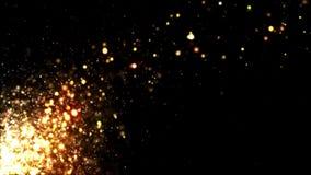 Funkeln-Gold, das weg durchbrennt stock video footage