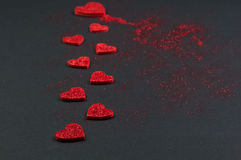 Funkeln Valentine Hearts Lizenzfreies Stockbild
