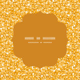 Funkelnbeschaffenheits-Kreisrahmen des Vektors goldener glänzender Lizenzfreie Stockfotos