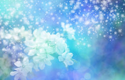 Funkelnde blaue Blüten-Hochzeits-Fahne Stockfotos