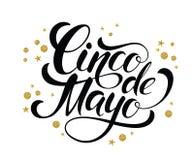 Funkelnde Briefgestaltung Cinco de Mayos Lizenzfreie Stockfotografie