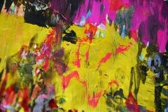 Funkelnde dunkle purpurrote goldene Kontraste der Farbe, kreativer Hintergrund der wächsernen Farbe Lizenzfreie Stockbilder
