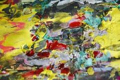 Funkelnde Farbe kontrastiert, kreativer Hintergrund der wächsernen Farbe Stockbild
