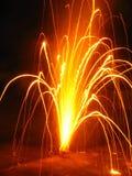 Funkelnde Feuerwerke Stockfoto