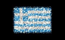 Funkelnde Flagge Griechenlands Lizenzfreie Stockbilder