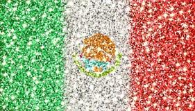 Funkelnde Flagge Mexikos Lizenzfreies Stockfoto