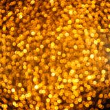 Funkelnde goldene Lichter lizenzfreies stockfoto