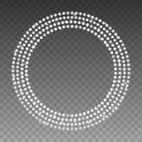 Funkelnde Perlen des Diamanten Glänzende kostbare Edelsteinkette Runde Form Lizenzfreies Stockfoto