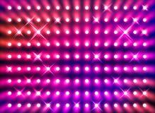 Funkelnde rote Scheinwerferwand Stockbild
