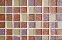 Funkelnde süße Farbe deckt Beschaffenheit mit Ziegeln Lizenzfreie Stockfotos