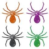Funkelnde Spinnen Stockfotografie