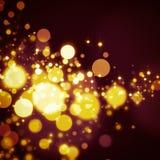 Funkelnde Sterne auf bokeh Hintergrund Lizenzfreies Stockbild