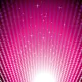Funkelnde Sterne auf magentarotem Leuchteimpuls Stockbilder