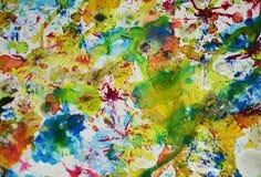 Funkelnde unscharfe Farben der abstrakten Farbe, kreativer Hintergrund der wächsernen Pastellfarbe Lizenzfreies Stockbild