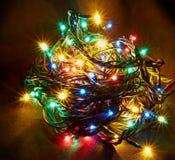 Funkelnde Weihnachtsgirlande Lizenzfreie Stockfotos