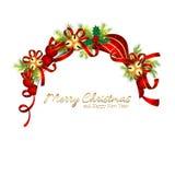 Funkelnde Weihnachtsgrußkarte lizenzfreie abbildung