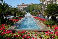 Funkelnder Brunnen in Murcia. Lizenzfreie Stockfotografie