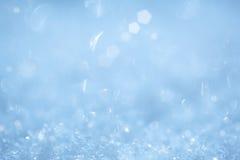 Funkelnder Eiskristall-Weihnachtsaqua-Hintergrund Stockbilder