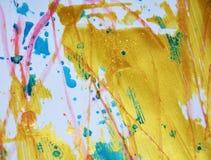 Funkelnder goldener Hintergrund, rosa blaue Farben Stockfotografie