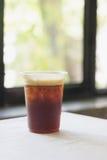 Funkelnder kalter Gebräu-Nitrokaffee Stockfoto