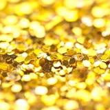 Funkelndes Lichter bokeh Licht goldener Weihnachtshintergrund Lizenzfreies Stockbild