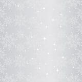 Funkelndes nahtloses Muster der Weihnachtsschneeflocke Lizenzfreie Stockfotos