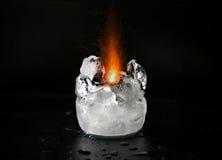 Funkelndes schmelzendes Eis der Flamme Lizenzfreies Stockbild