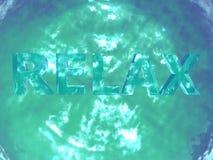 Funkelndes Wasser des Türkises mit entspannt sich Zeichen Lizenzfreie Stockfotografie