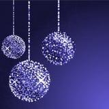 Funkelnkugeln in der blauen Farbe Lizenzfreies Stockfoto