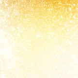 Funkelnweinlese beleuchtet Hintergrund Abstrakter Goldhintergrund defocused Lizenzfreie Stockfotografie