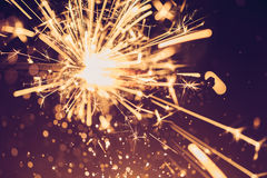 Funkelnweinleseschein beleuchtet Hintergrund, abstraktes BAC des Scheins Stockbild