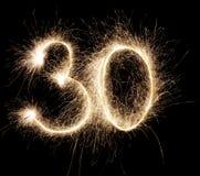 Glühende 30 Lizenzfreies Stockbild