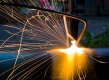 Funken des fixierten Metalls Stockfoto