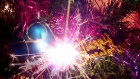 Funken des neuen Jahres stock video footage