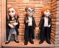 Funko Harry Potter, Hermione Granger e Ron Weasley Immagini Stock Libere da Diritti