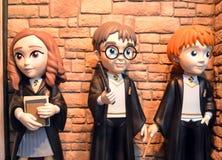 Funko Harry Potter, Hermione Granger y Ron Weasley imagen de archivo libre de regalías