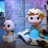 Funko Olaf och Elsa från fryst Disney ` s Fotografering för Bildbyråer