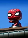 Funko Spiderman Close Up. Funko Store Spiderman in Everett Washington stock photos