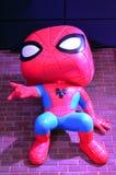 Funko Spiderman hangs from brick wall. Funko Store Spiderman in Everett Washington royalty free stock images