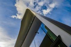 Funksprechgerät, das London errichtet Himmel-Garten Stockfoto