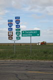 Funktelegrafie. Signage 66 in Texas Lizenzfreie Stockbilder