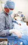 funktion som utför den veterniarian sterilizationen royaltyfri fotografi