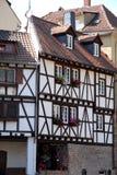 Funktion von Neckarsteinach-Haus auf Deutsch Stockfotos