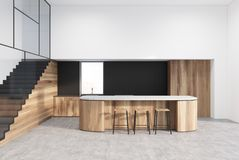 Funktionellt svart och träkök för vit, stock illustrationer